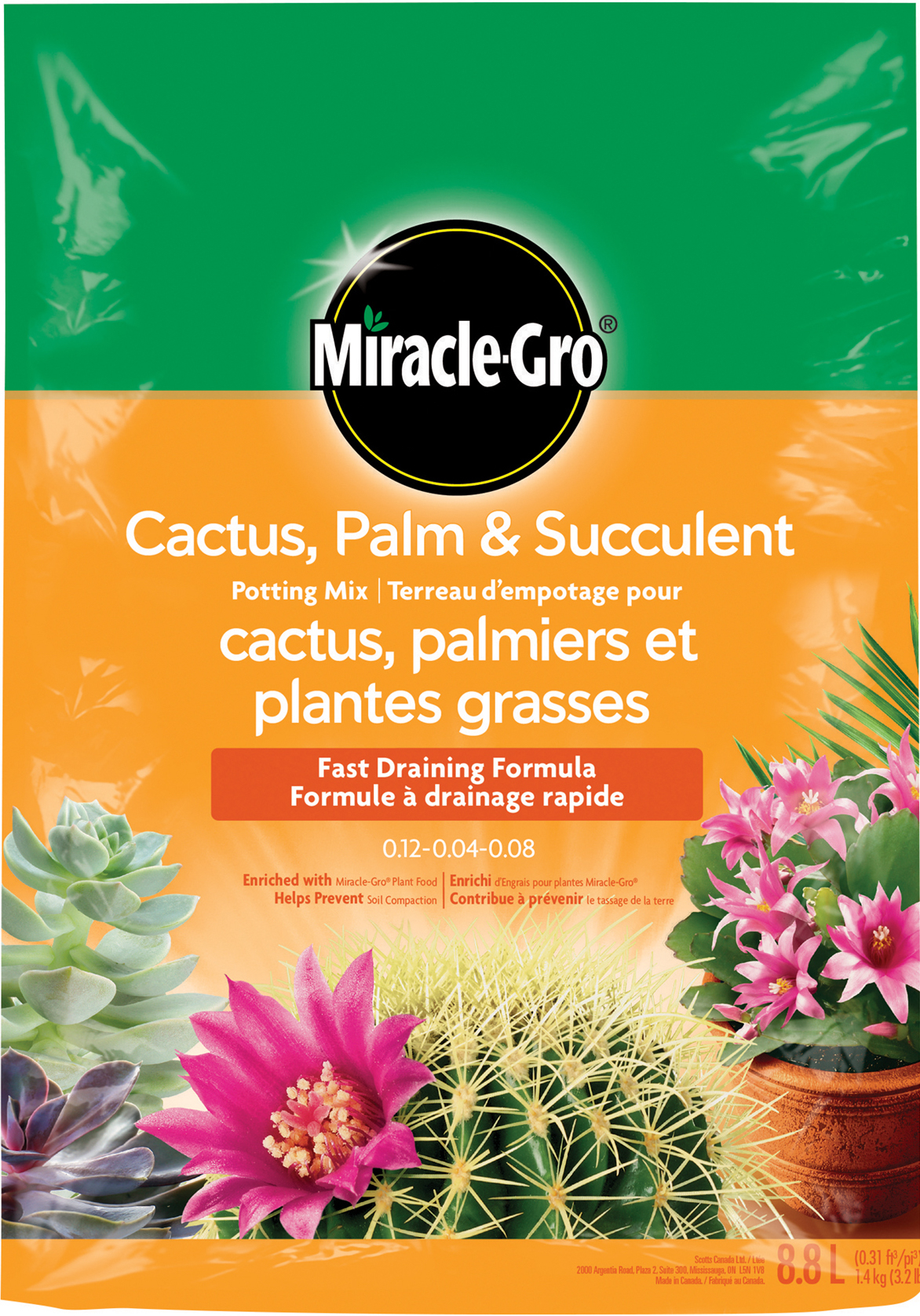 Miracle Gro Cactus Palm And Citrus Potting Mix Soils Miracle Gro Canada