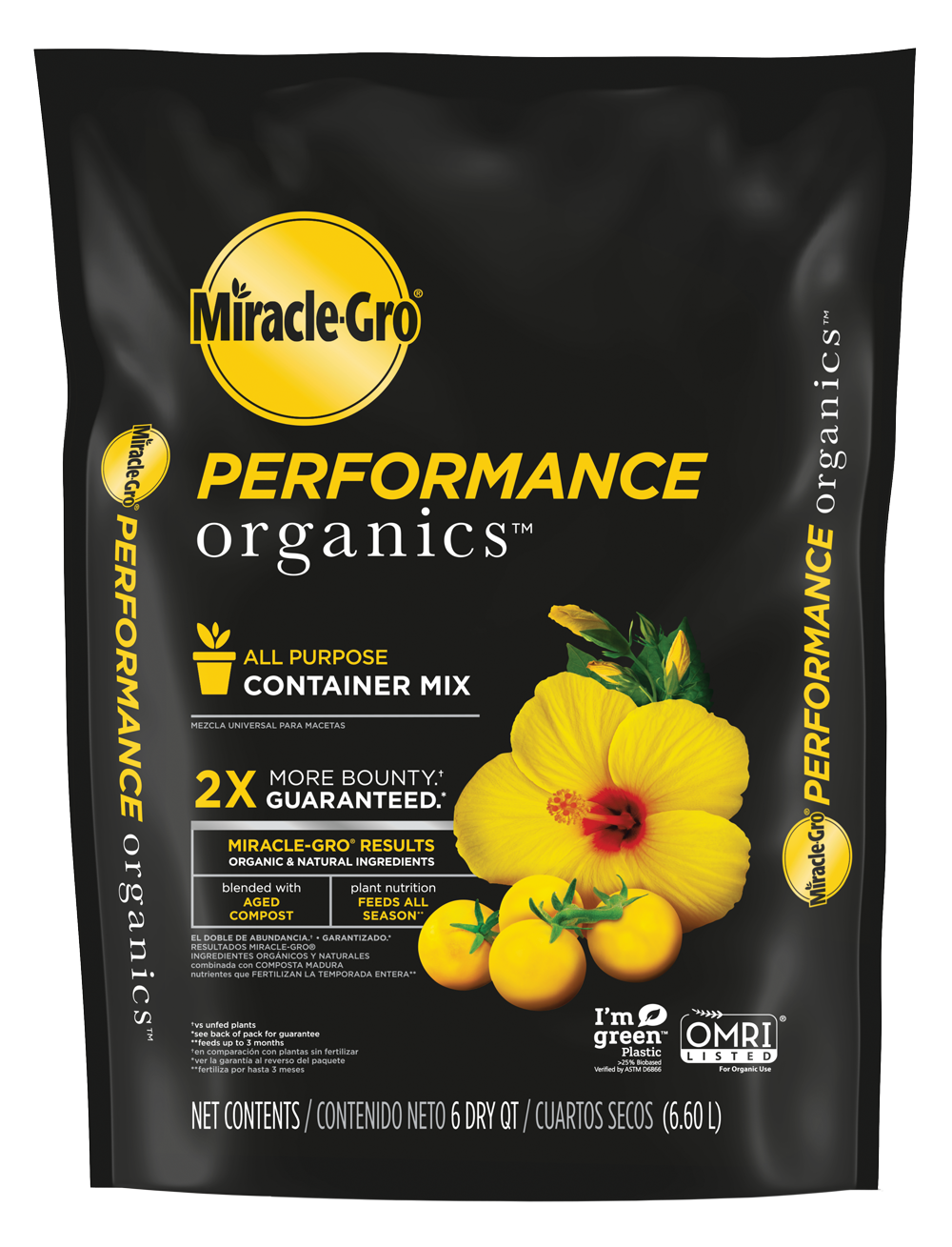 Miracle Gro 174 Performance Organics All Purpose Container