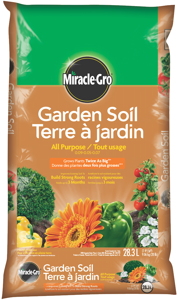 garden soil for flowers vegetables miracle gro canada - Miracle Gro Garden Soil