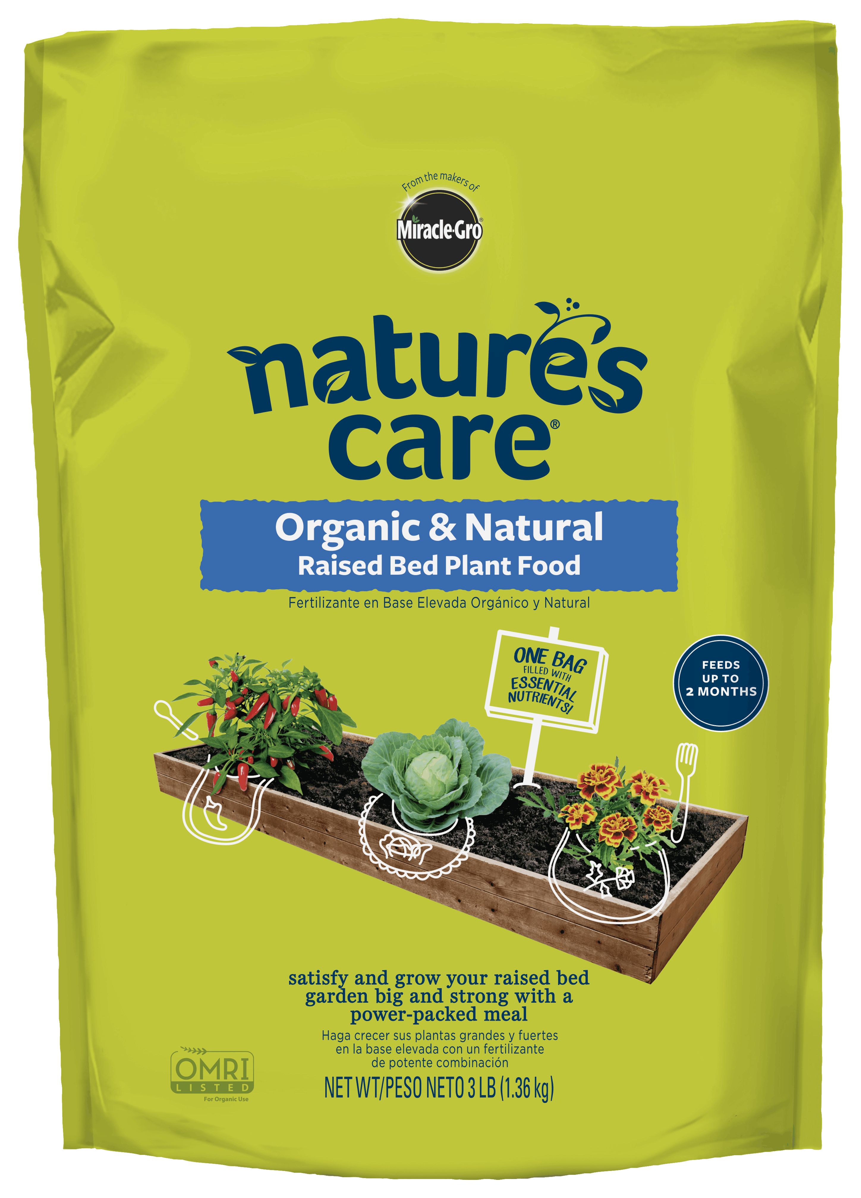 Nature 39 s care organic natural raised bed plant food - Nature s care organic garden soil ...