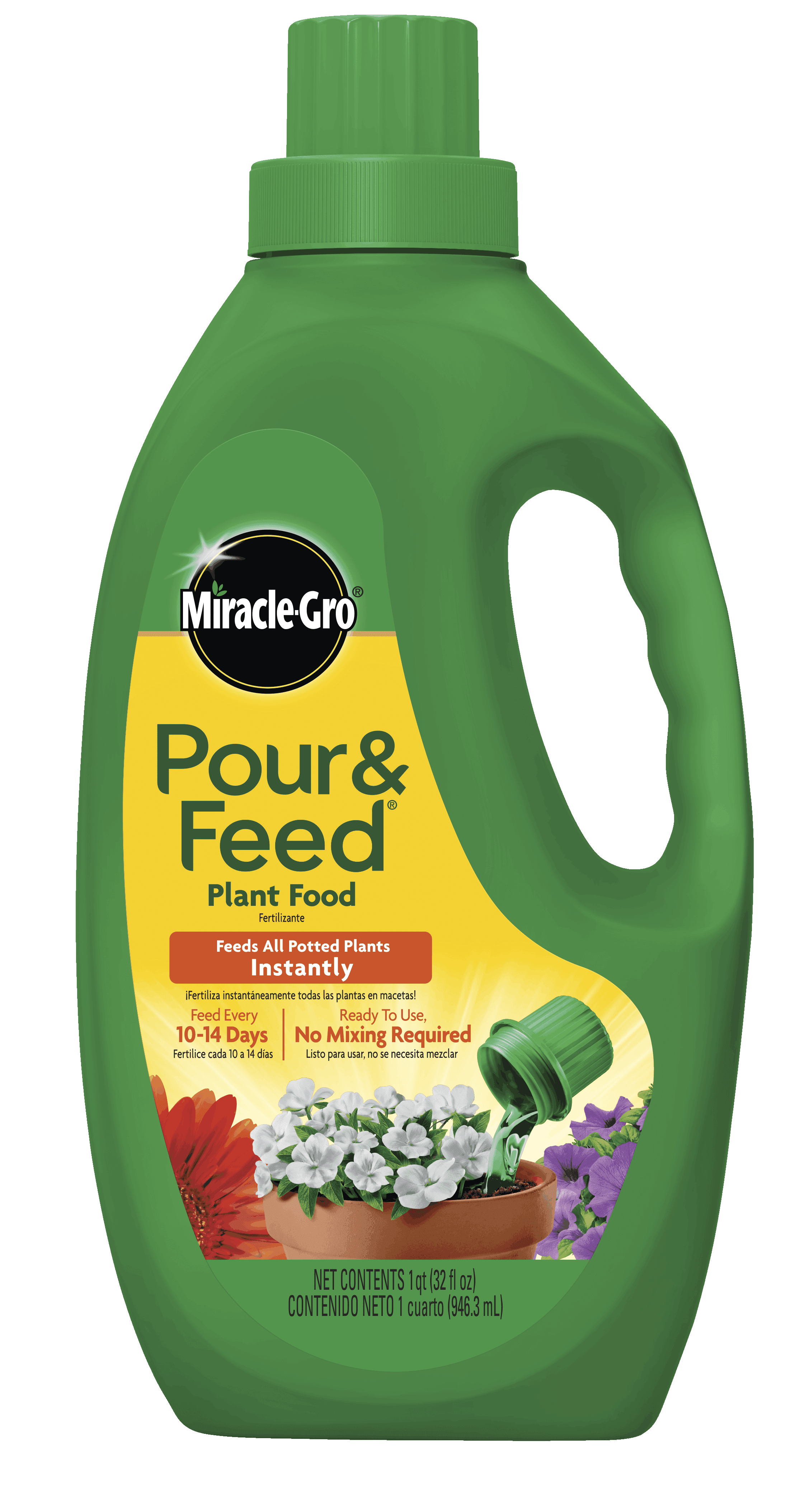 Miracle Gro Pour Feed Liquid Plant Food Ready To Use Plant