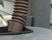 barrel with a downspout diverter