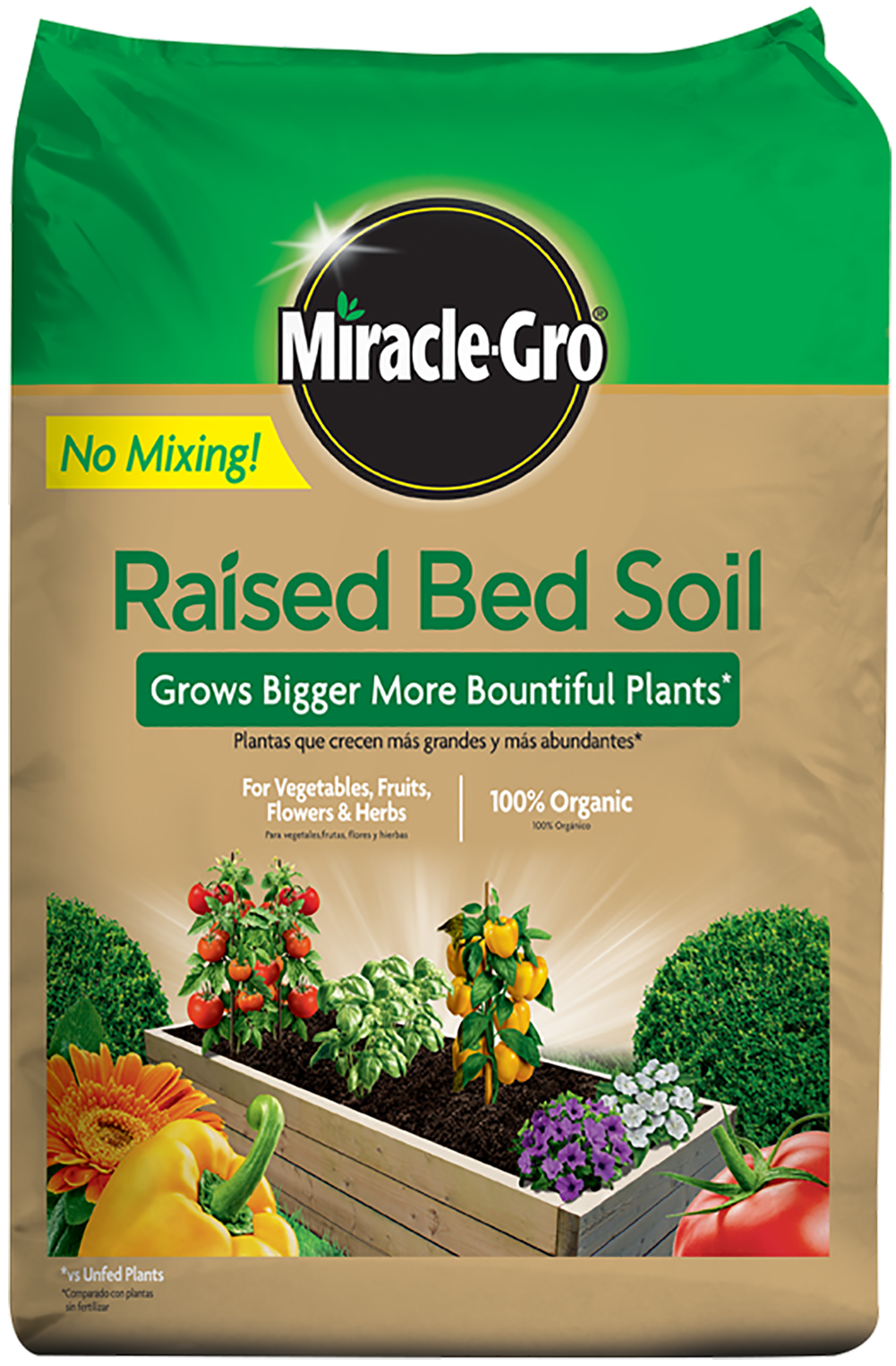 miracle gro raised bed soil miracle gro