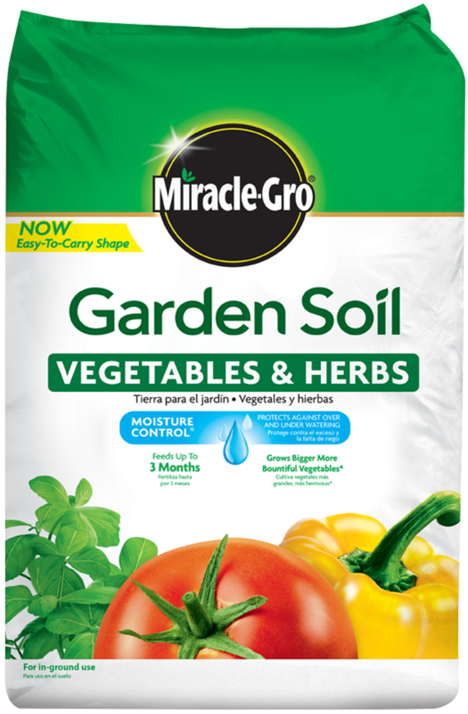 Miracle Gro Garden Soil for Ve ables and Herbs
