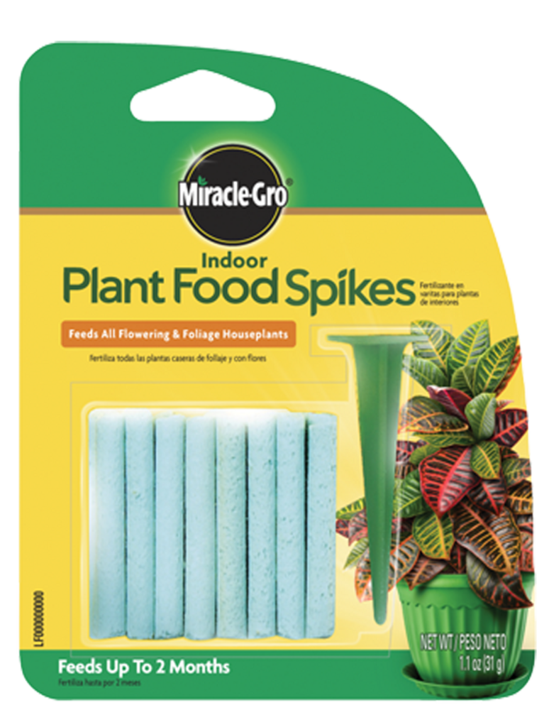 Miracle gro indoor plant food spikes plant food for Indoor gardening nutrients