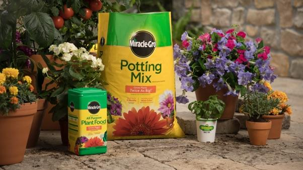 Miracle-Gro Potting Mix and All-Purpose Plant Food