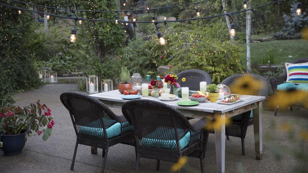 patio ready for outdoor summer entertaining