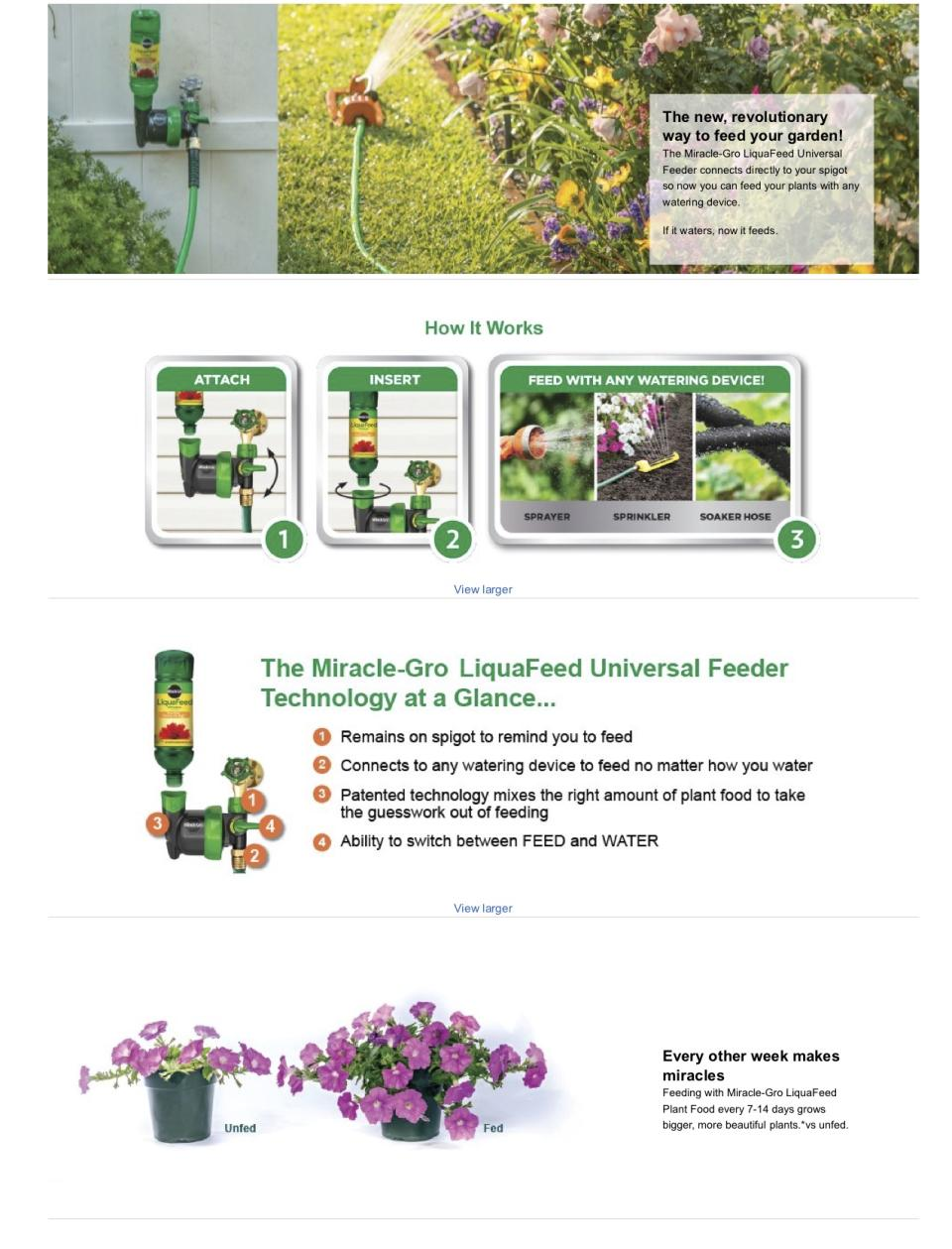 Miracle Gro Liquafeed Bloom Booster Flower Food Refill Bottles