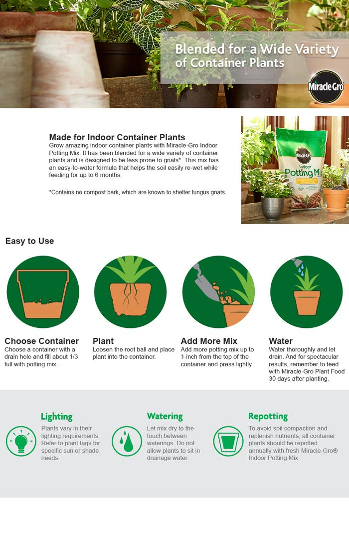 Miracle Gro Indoor Potting Mix Soils