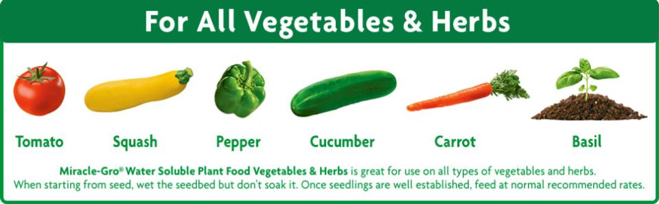 Miracle-Gro® Water Soluble Plant Food Vegetables and Herbs