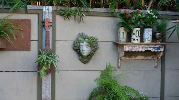 Vertical Gardening: vertical garden on a fence