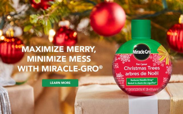 Food for Christmas Trees product with caption- Maximize Merry, Minimize Mess with Miracle-Gro