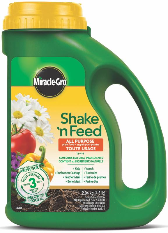 Miracle-Gro® Shake 'N Feed® All Purpose Plant Food 12-4-8 Front