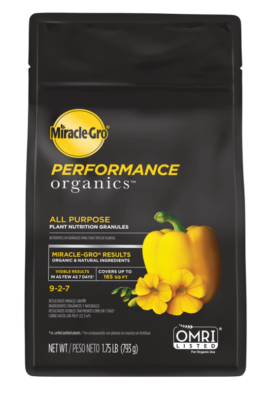 Miracle-Gro® Performance Organics™ All Purpose Plant Nutrition Granules Bag Front