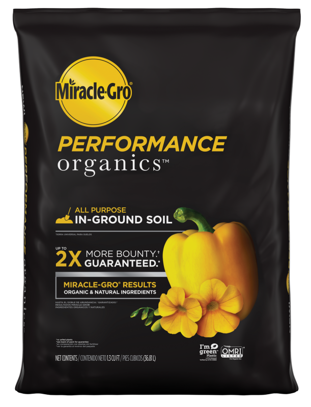 Miracle-Gro® Performance Organics™ All Purpose In-Ground Soil Bag Front