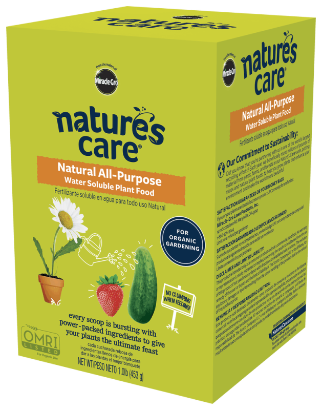 Nature 39 s care natural all purpose water soluble plant food - Miracle gro all purpose garden soil ...