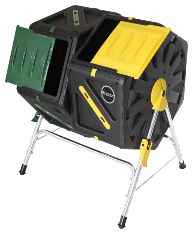 Miracle-Gro® Dual Chamber Tumbling composter - 37 Gallons/140 Liters