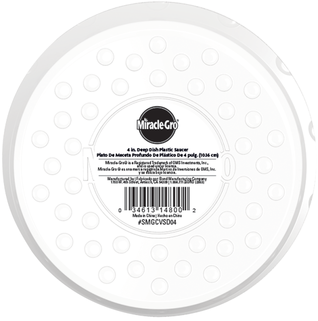 Miracle-Gro® Deep Dish Plastic Saucer