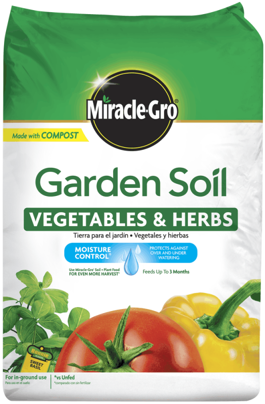 Miracle-Gro® Garden Soil for Vegetables and Herbs Bag Front