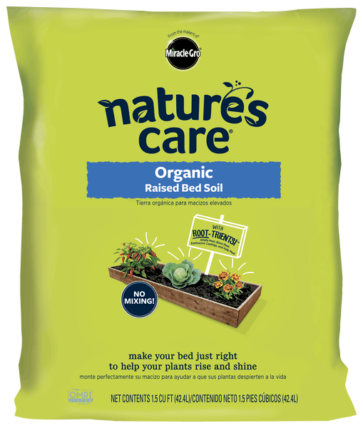 miracle gro natures care organic raised bed soil