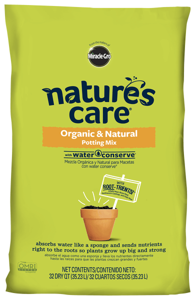 natures care potting mix with water conserve