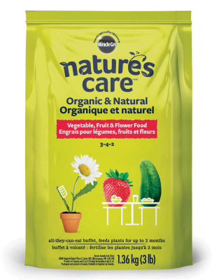 Nature's Care® Organic & Natural Vegetable, Fruit & Flower Food 3-4-2