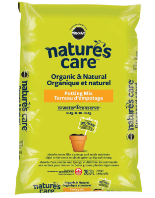 Nature's Care® Organic & Natural Potting Mix with Water Conserve TM 0.15-0.10-0.15