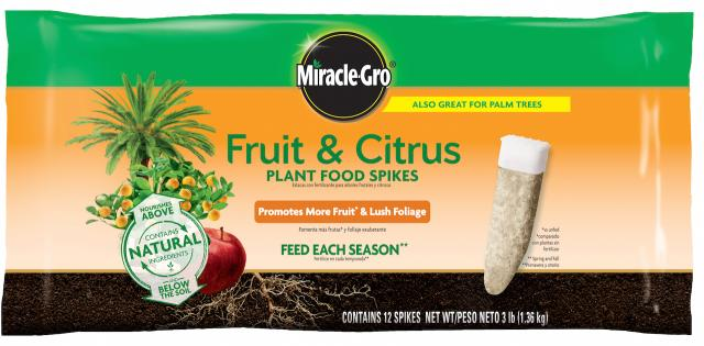 Miracle-Gro® Fruit & Citrus Plant Food Spikes