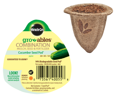 Miracle-Gro® Gro-ables® Cucumber Seed Pod®