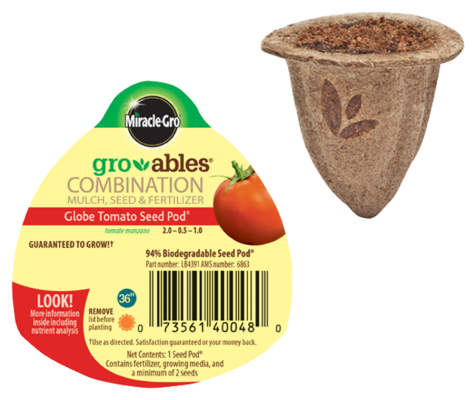 Miracle-Gro® Gro-ables® Globe Tomato Seed Pod®