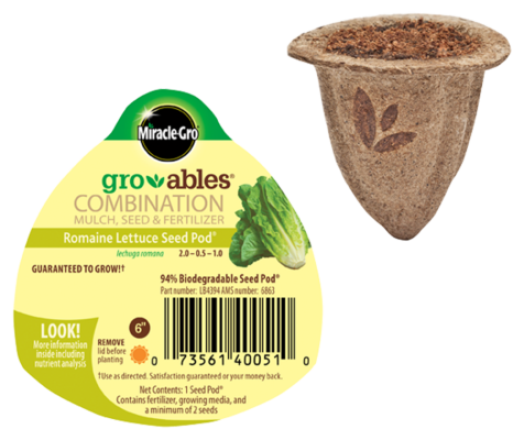 Miracle-Gro® Gro-ables® Romaine Lettuce Seed Pod®