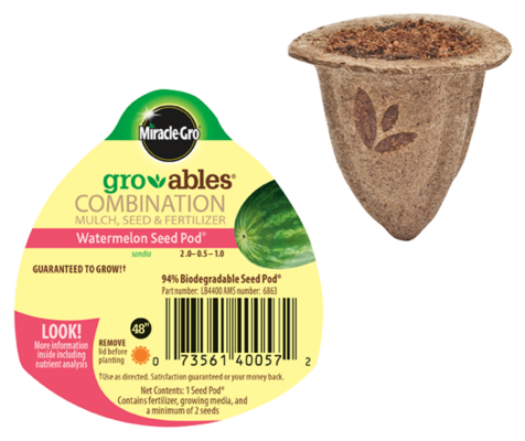 Miracle-Gro® Gro-ables® Watermelon Seed Pod®